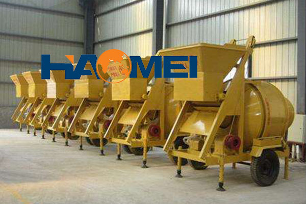 double horizontal shaft compulsive concrete mixer